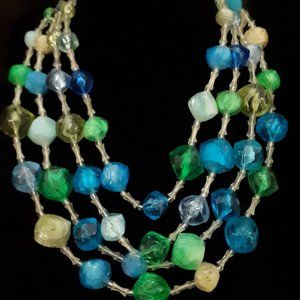 1970's Four Stand Funky Chunky Necklace